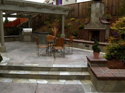 Rock Salt Finish Concrete Patios BCP Concrete Pleasanton, CA