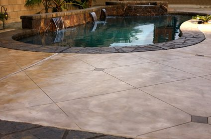 pool deck surface material comparison - the concrete network