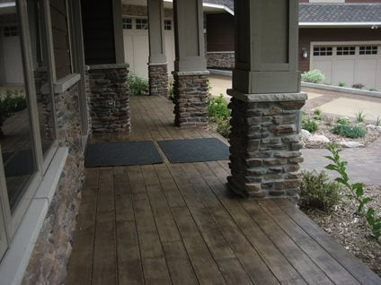 walkway concrete walkways allstate decorative concrete cokato mn - Cover Concrete Patio Ideas