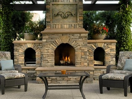 Stone, Hearth Outdoor Fireplaces The Green Scene Chatsworth, CA