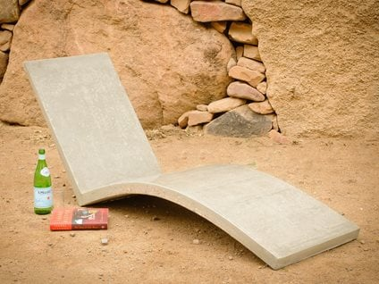 Concrete Chair Outdoor Furniture Palumbo Sculpture/Design Eldorado Springs, CO