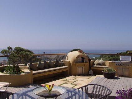 Tan, Dome Fireplace Outdoor Kitchens Tom Ralston Concrete Santa Cruz, CA