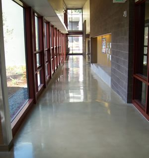 Grey, School Polished Concrete Retroplate System Provo, UT