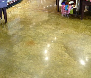 Polished Concrete Floor, Colored Polished Floor Polished Concrete Ritonya Concrete & Stone Services Omaha, NE