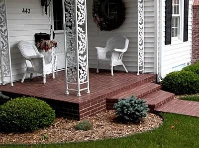 brick steps site artisticrete llc noblesville in exteriorsstunning front porch stairs step ideas - Front Steps Design Ideas