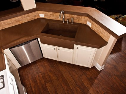 Brown Countertop Site Concrete Wave Design Anaheim, CA