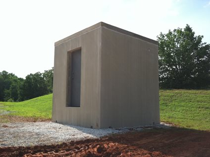 Concrete Safe Room Site Superior Walls of East Tennessee Rock Island, TN