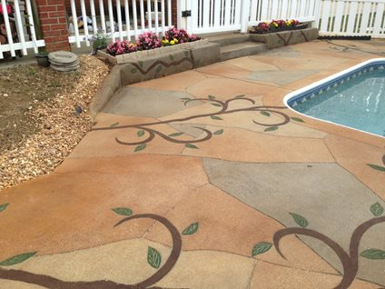 Decorative Concrete Vines Site Decorative Concrete Institute Temple, GA