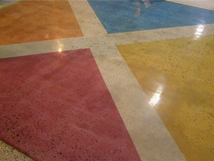 Concrete paint floor painting options the concrete network for Painting a concrete floor