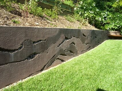 Layers Concrete Wall Site Ron Odell S Custom Woodland Hills Ca Layered Retaining