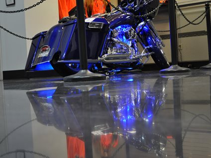 Polished Concrete, Motorcycle Dealership Dreamkrete Richmond, VA