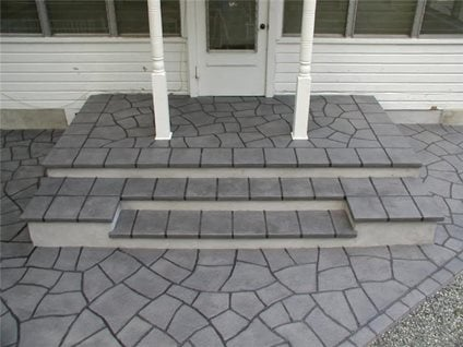 Concrete patio floor covering ideas american hwy - Unique floor covering ideas ...