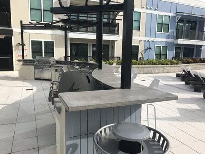 outdoor concrete bar