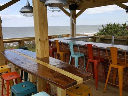 concrete beach bar