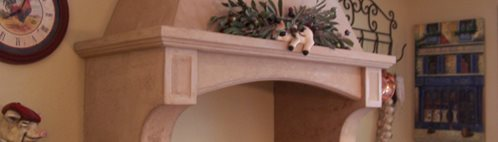 Range Hood, Tan Architectural Details Concrete Interiors Martinez, CA