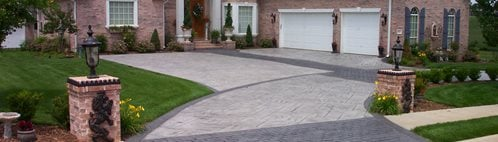 Brick And Concrete Driveway, Patterned Drive, Concrete Pattern Driveway Concrete Driveways Ozark Patterned Concrete, Inc. Lowell, AR