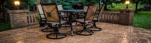 Patio Lighting, Patio Texture Concrete Patios J&H Decorative Concrete LLC Uniontown, OH