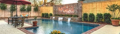 Pool Deck, Texrured, Waterfall Concrete Pool Decks Sundek Concrete Coatings, Inc. New Orleans, LA