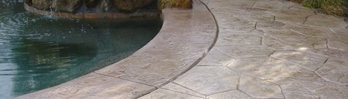 Tan, Stone Concrete Pool Decks Super-Krete Products Spring Valley, CA