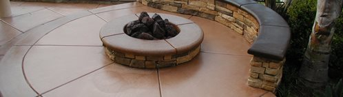 Terra Cotta, Rock Bench Outdoor Fire Pits Surfacing Solutions Temecula, CA