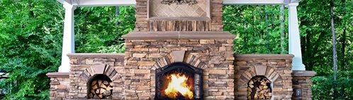 Stamped Concrete, Flagstone Pattern Outdoor Fireplaces Greystone Masonry Inc Stafford, VA