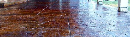 Colored Concrete Patio Site Distinctive Concrete of New England Rowley, MA