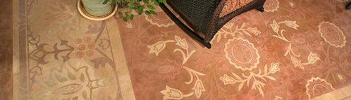 Stenciled Flooring Modello Designs Chula Vista, CA