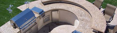 Round Countertop Picture Concrete Countertops The Green Scene Chatsworth, CA