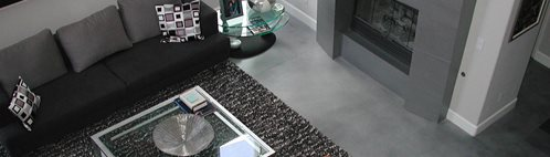 Concrete Floor Design Ideas spectacular self leveling floor designs adding surprising optical illusions to modern interiors Dark Grey Modern Concrete Floors Masterpiece Concrete Compositions Oceanside Ca