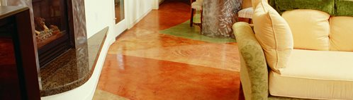 Red, Brown Concrete Floors Bomanite Corporation Madera, CA