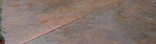 Stamped Leaf Pattern, Pool Deck Concrete Floors Artistic Concrete Riverside, RI