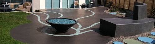 Artistic Patio, Blue Concrete Site Suncoast Concrete Coatings Inc San Diego, CA