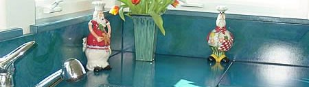 Blue, Drainboard Concrete Countertops Absolute ConcreteWorks Poulsbo, WA