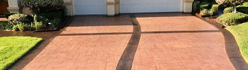 冲压车道,染色车道混凝土车道Kb混凝土染色诺科,加州