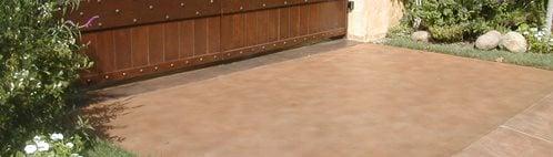 棕褐色,简单的混凝土车道混凝土FX Agoura Hills,CA