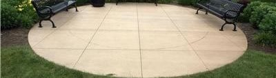 Round, Saw Cut Concrete Patios Max Power Concrete Columbus, OH