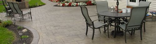 Stamped Concrete Design Ideas stamped concrete patio Smokey Beige Concrete Patios Cornerstone Concrete Designs Orrville Oh Stamped