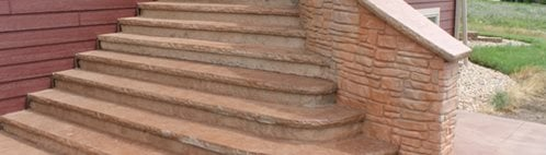 Curved Concrete Stairs Steps and Stairs Benchmark Foam Inc. Watertown, SD