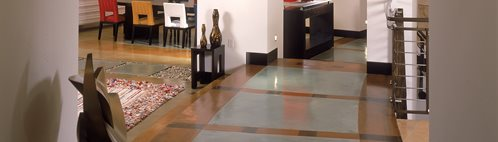 Border, Hallway Concrete Floors Masterpiece Concrete Compositions Oceanside, CA