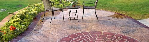 Stamped Concrete Patio, Brick Border Concrete Patios Concreations, LLC Millersburg, IN