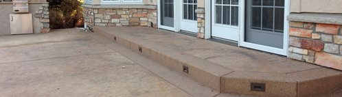 Brown Stamped Concrete Patio Stamped Concrete Diehl Concrete Aurora, CO