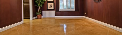 Concrete, Floor, Living Room, Diamond, Tan Concrete Floors ACI Flooring Inc Beaumont, CA