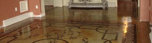 Stenciled Floor, Stained Floor, Patterned Floor Concrete Floors Image-N-Concrete Designs Larkspur, CO