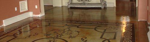 模板地板,染色地板,图案地板混凝土地板Image-N-Concrete Designs Larkspur, CO