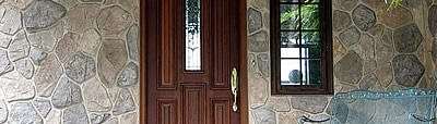Flagstone Facing, Entryway Vertical Stamping FLEX-C-MENT / Stone Edge Surfaces Mesa, AZ