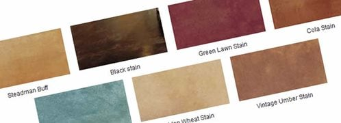 stain concrete colors