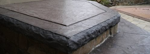 Hammered Edge Liner Site ConcreteNetwork.com ,