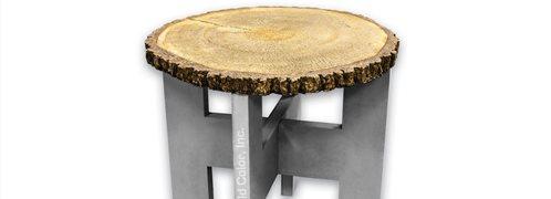 Log Table, Concrete Mold Site Butterfield Color® Aurora, IL
