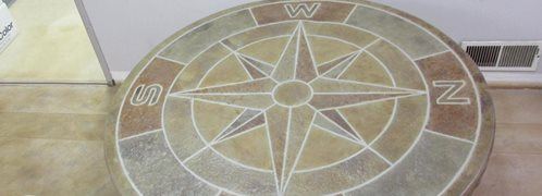 Concrete Table Top, Compass Mold Site Deco-Crete Supply Orrville, OH