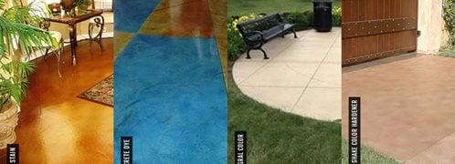 Concrete coloring products